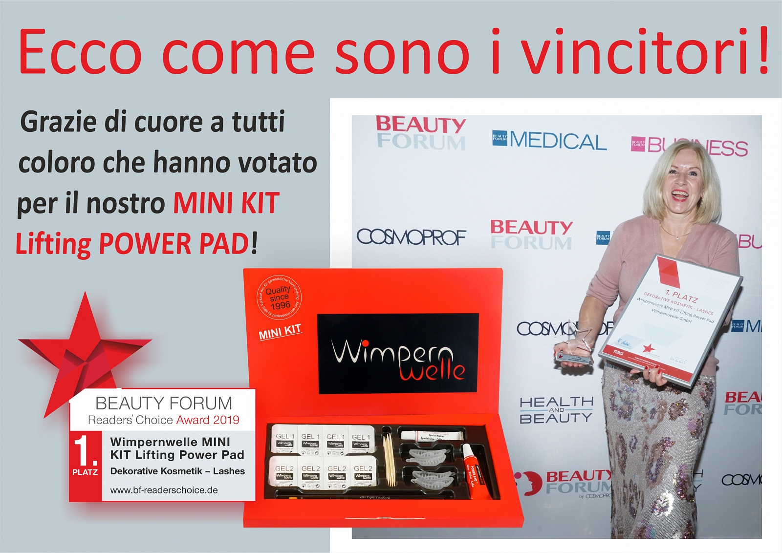 Prodotto dell'anno 2019: MINI KIT Lifting POWER PAD