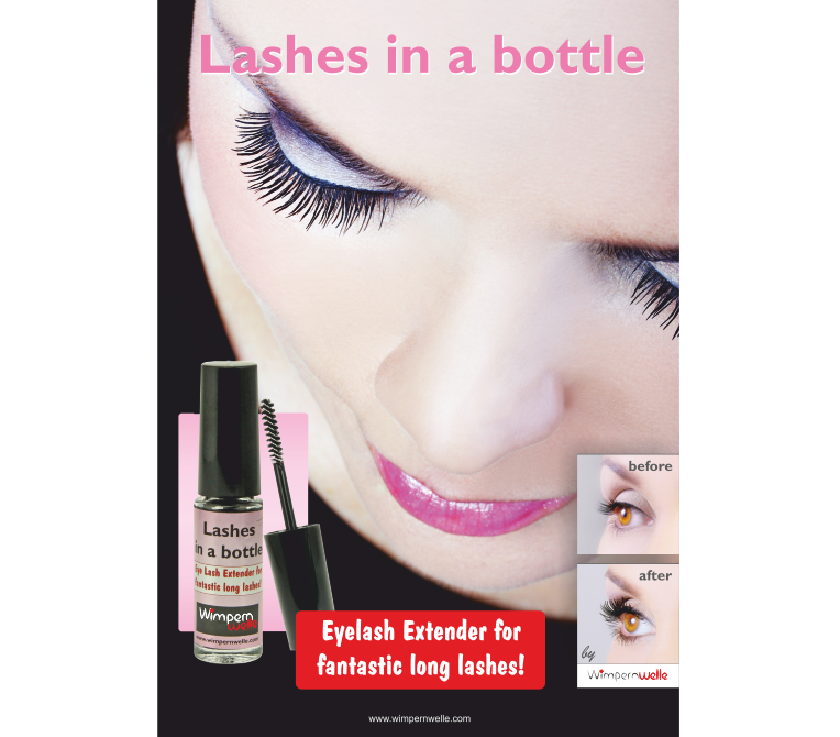 Lashes in a bottle Poster